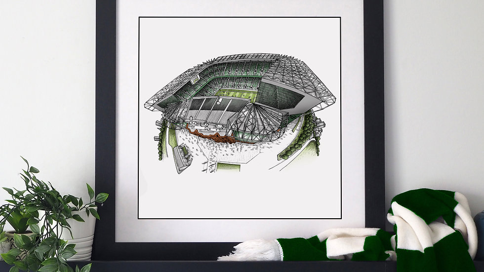 Celtic Park (2020) Hand Drawn Celtic FC Art