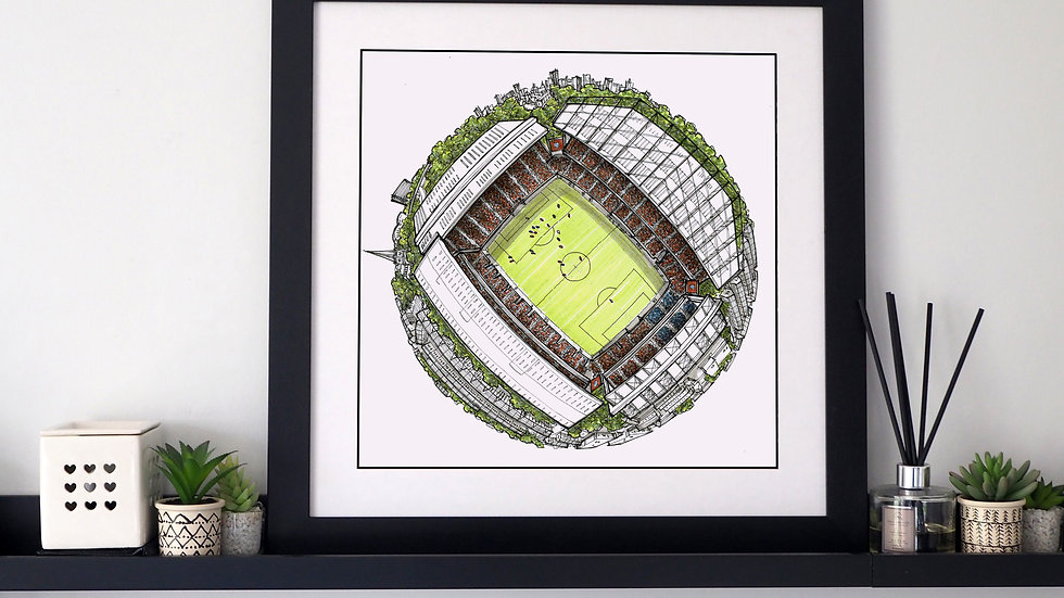 The Villa Park Globe (2020) Hand Drawn Aston Villa FC Art