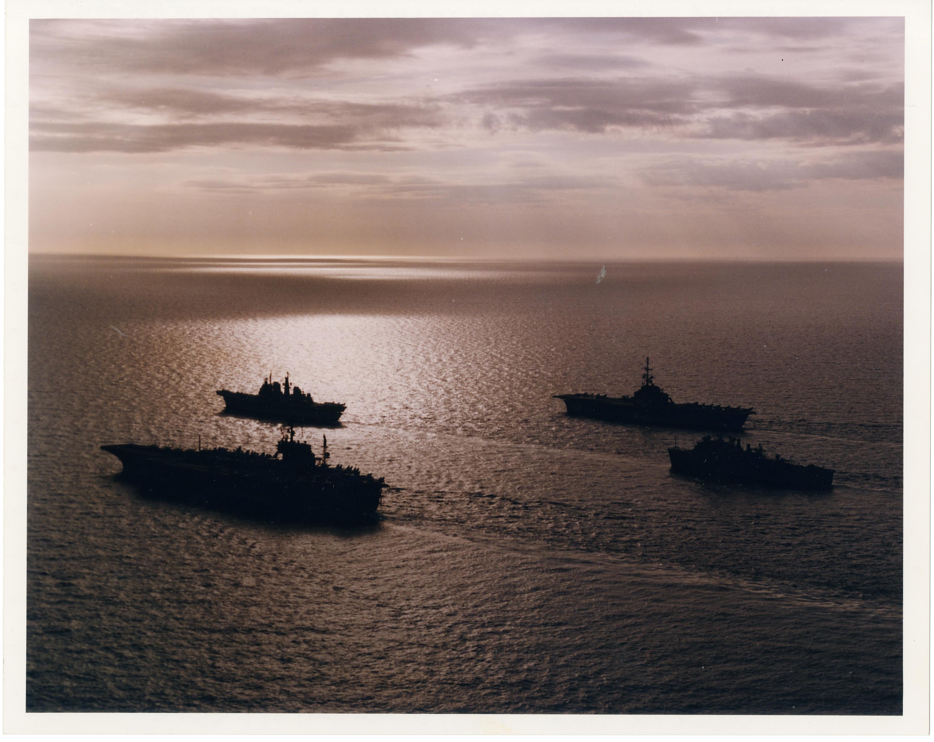 Adriatic-USS America-Clemenceay-Le Salle-Illustrious