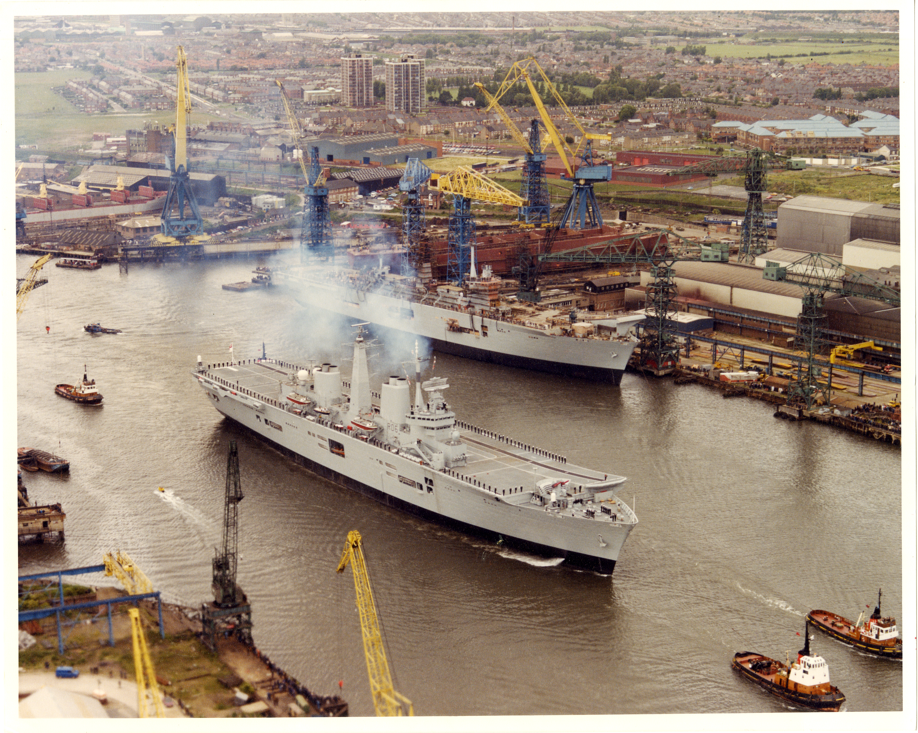 82-6-24-Passing Ark Royal in Tyneside