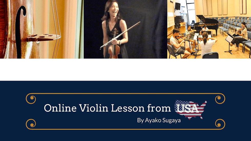 Online Violin Lesson from USA