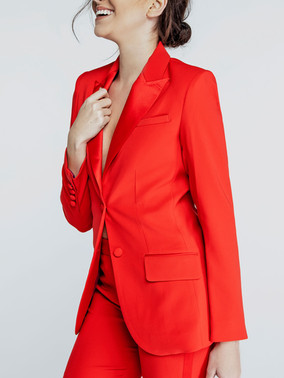 Red Peak Lapel Tuxedo Jacket