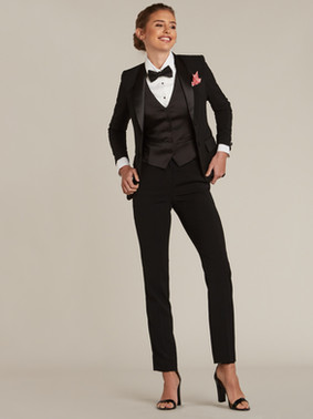 Black Shawl Collar Tuxedo Jacket & Black Slim Fit Tuxedo Pants