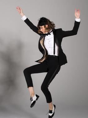 Black Peak Lapel Tuxedo Jacket & Black Ultra Slim Fit Tuxedo Pants