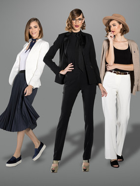 Diamond White Shawl Collar / Black Peak Lapel / Black Slim Fit / Diamond White Wide Straight Fit