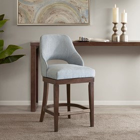 Jillian Counter Stool With Swivel Seat by Madison Park