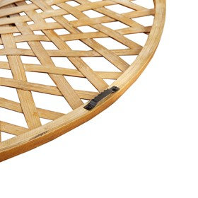 Reed Round Bamboo Wall Decor Mirror by Madison Park