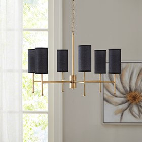 Maria Gold 6-Light Chandelier with Multi Shade Options by Hampton Hill