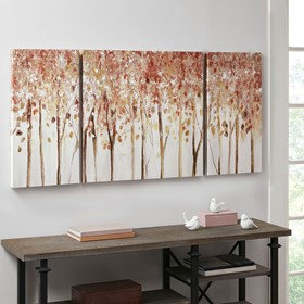 Autumn Forest 3 Piece Canvas Art Palette Knife Embellishment By Madison Park