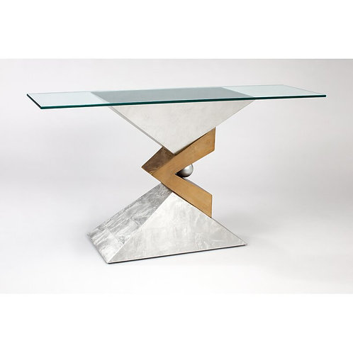 Console Table With Glass By ArtMax