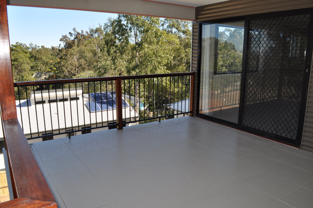 Waterproofed and tiled deck