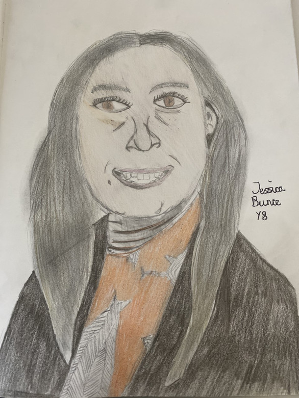 Jessica Y8 - Teacher Portrait (Ms Wilkie)