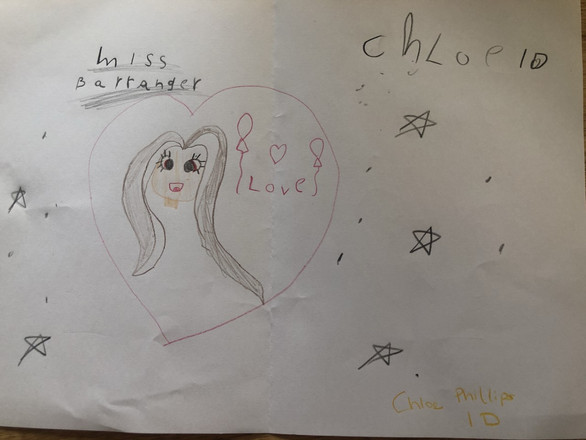 Chloe Y1D - Teacher Portrait (Miss Barranger)