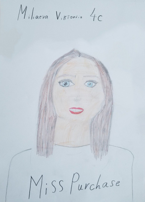 Natalia Year 4C - Teacher Portrait (Miss Purchase)