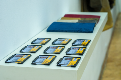 ID cards and waxed cotton zines.