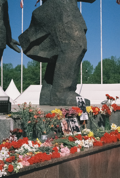 VE Day at Victory Memorial to Soviet Army, Riga