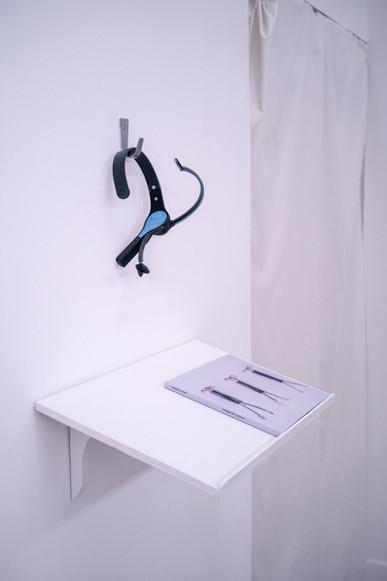 Headset outside light installation
