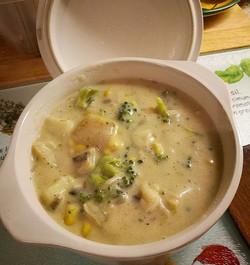 Weekend comfort dinner... Vegetable Corn Chowder.jpg