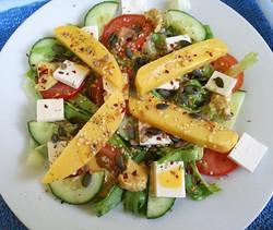 Grilled polenta and feta salad...jpg