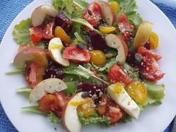 Colourful tomato salad for dinner...jpg