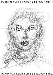 Cover der Johnny Ausgabe 9: Masken. Ein Frauenkof ist mt krakeligen, skizzenkaften, schwarzen Strichen auf den weißen Hintergrund gemalt. Der Ttel MAKSKEN in weißer Shrift zieht sich üer ire Augen.