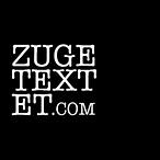 Das Logo von zugtextet.com: ein schwarzer Kreis mit dem Titel de Literaturzeitschrift in weiß und Blockschrift darauf.