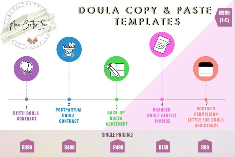 Doula Copy & Paste Template with prices.