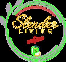 #Slenderliving logo with website address