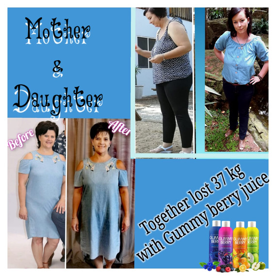 Mother and daughter before and after