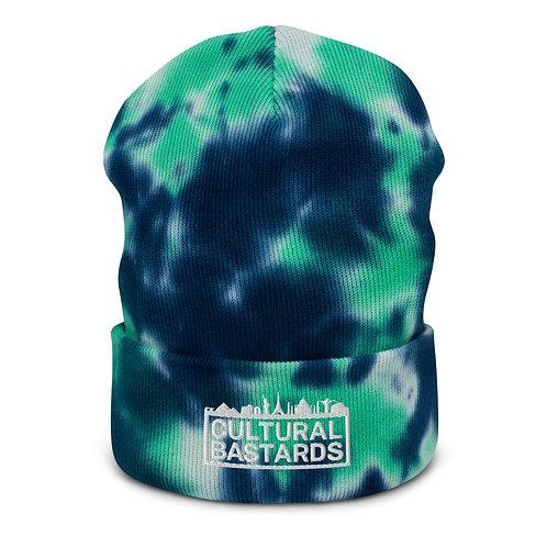 Cultural Bastards Blue/Green Tie-dye beanie