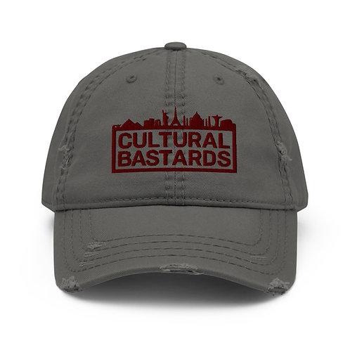 Cultural Bastards Grey/Maroon Distressed Dad Hat