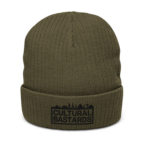 Cultural Bastards Olive/Black Recycled cuffed beanie
