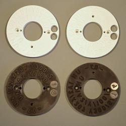 Prototyp und Fertigteil Prägeplatten