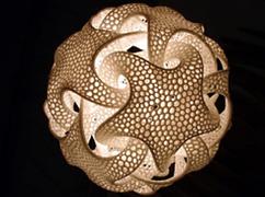 3D Druck: Lichtobjekte, Leuchtobjekte, Lampen, Leuchten, Kunstobjekte, Designobjekte, Lichtinstallationen