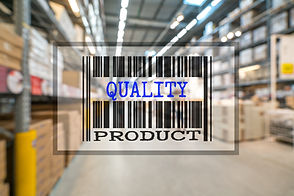 Barcode of PRODUCT QUALITY with blurred