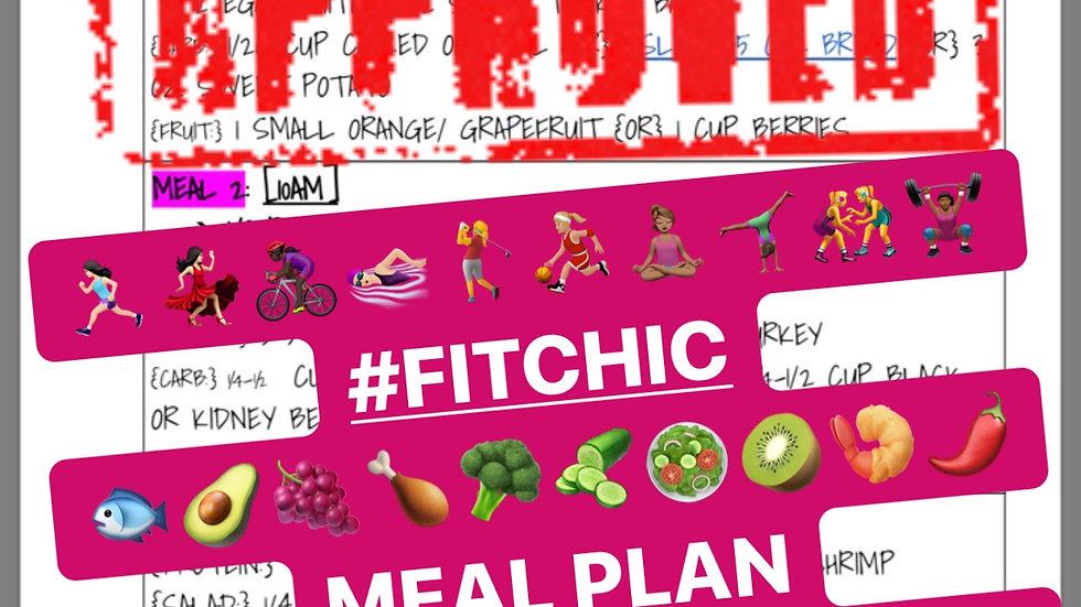 FITCHIC MEAL PLAN W/ OPTIONS