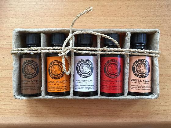 Gift Pack - 5 Bottles (Vanilla, Orange, Cinnamon,