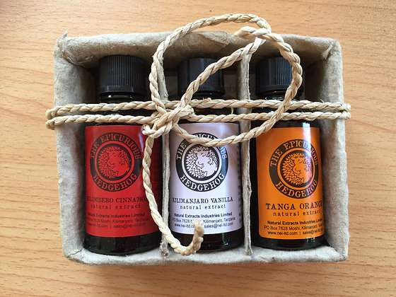 Gift Pack - 3 Bottles (Vanilla, Orange, Cinnamon)