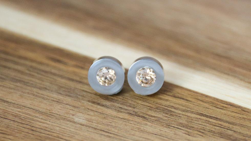 Boucles d'oreilles avec pierres changeables