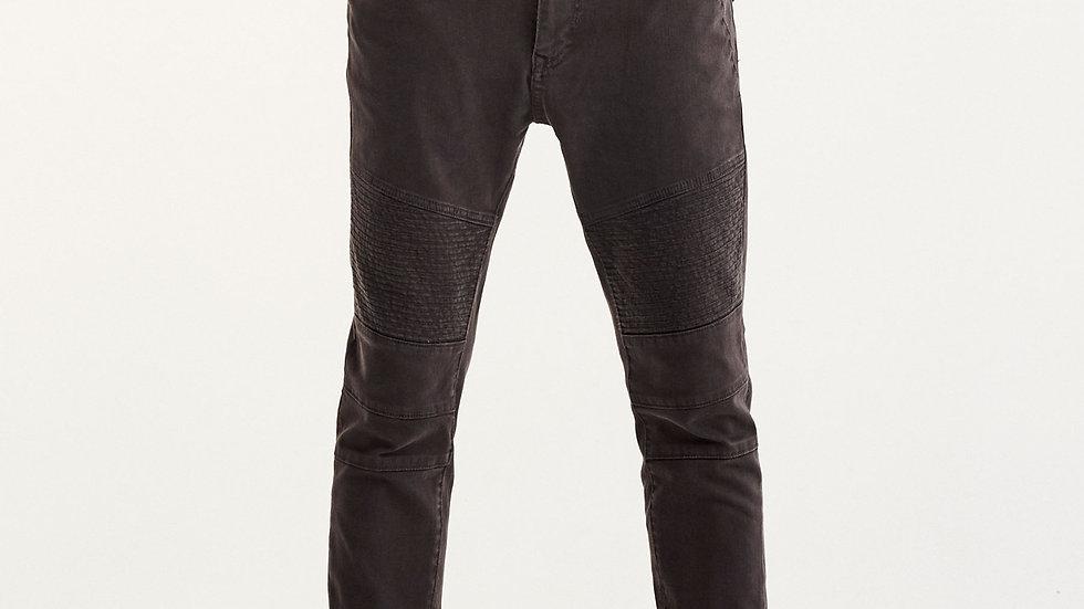 Pantalon style motard carrot fit