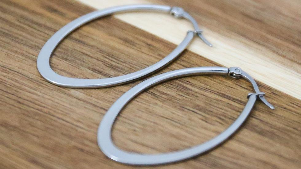 Boucles d'oreilles créoles ovales