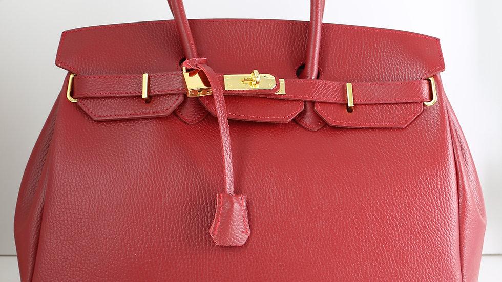 Grand sac avec rabat Rouge Fermoir métallique avec cadenas et clé Abidjan