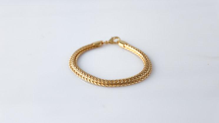 Bracelet or plaqué & chaine