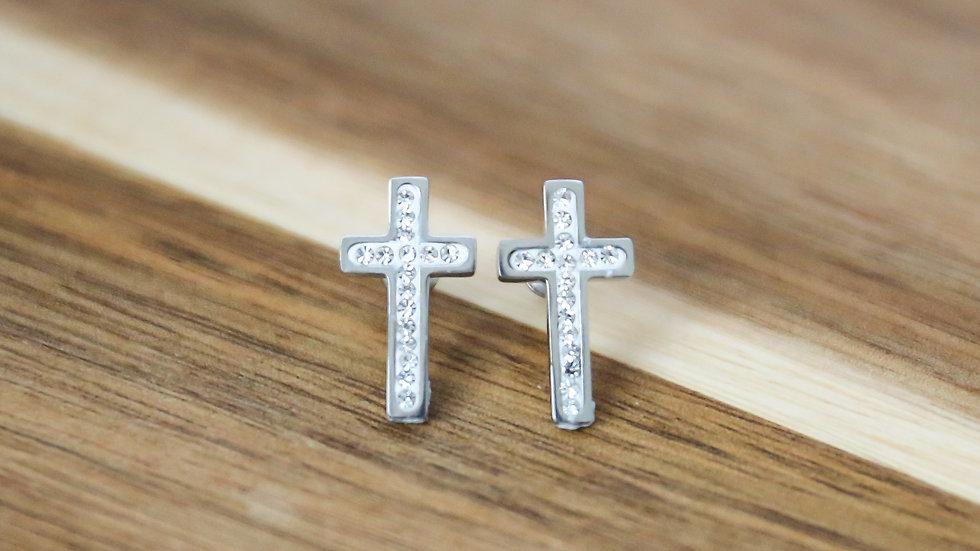 Boucles d'oreilles avec croix