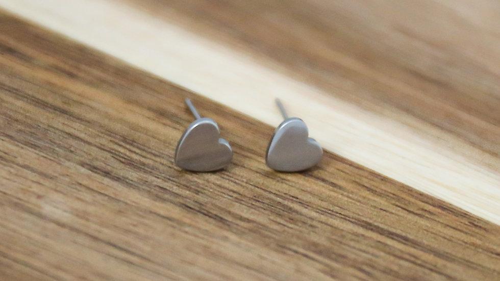 Boucles d'oreilles coeur et carré