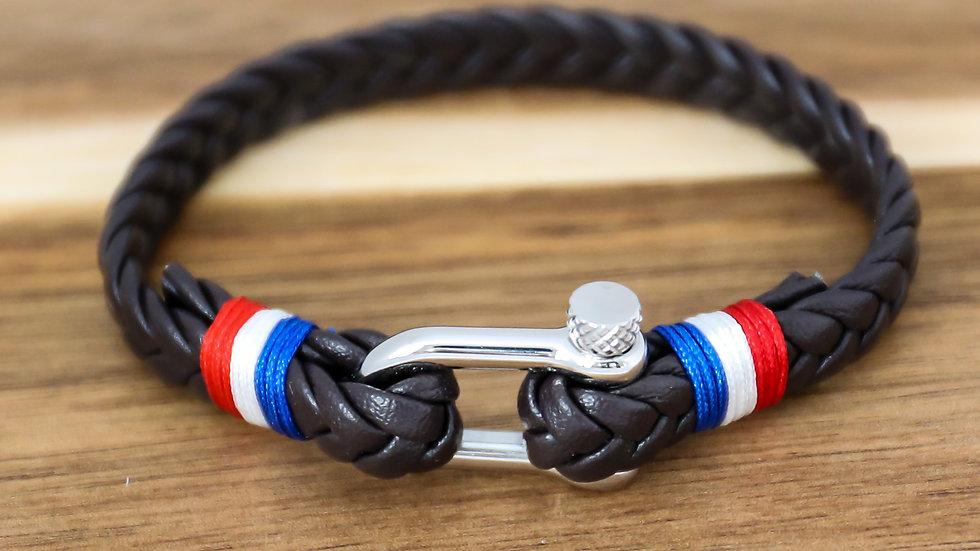 Bracelet cuir avec vice