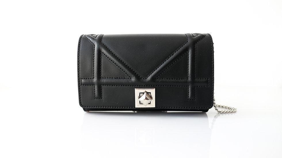 Mini sac Noir en cuir Fermoir carré Abidjan
