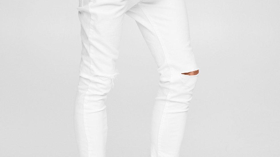 Jeans blanc super skinny déchiré au genou Abidjan
