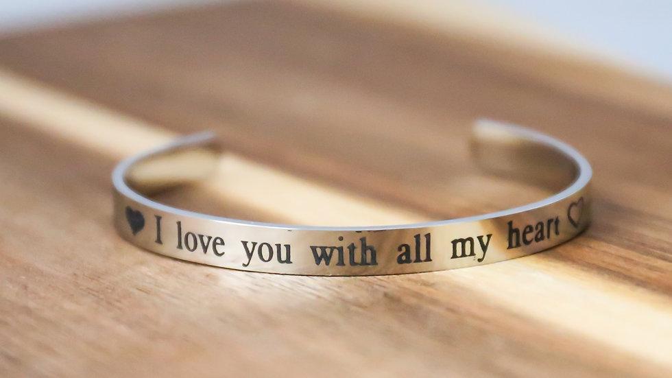 Bracelet avec inscriptions