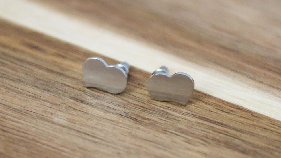 Boucles d'oreilles grand coeur